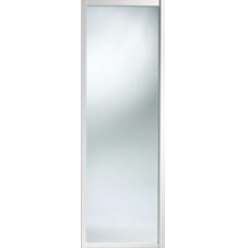 "Shaker Sliding Wardrobe Door 762mm (30"") White Mirror Door"